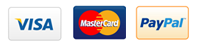 we accept visa card master card..